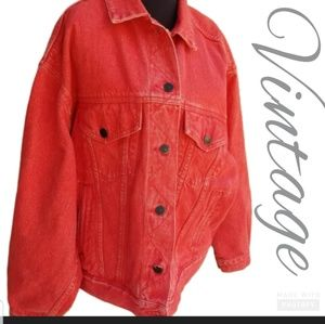 Eddie Bauer VTG. denim jacket XXL